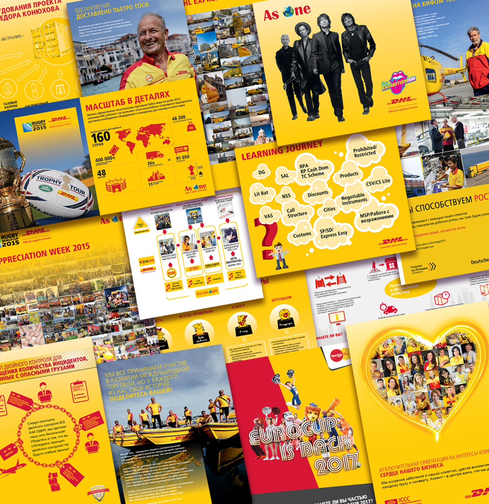 DHL Leaflets, Posters and Wide-format